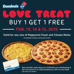 Domino's Valentine Promo – Buy 1 Take 1