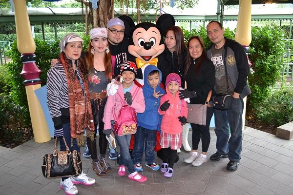 With Mickey Mouse in Hongkong Disneyland