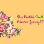 Free Printable Monthly Health Calendar – January 2016
