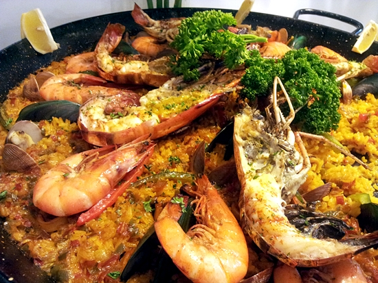 The famous paella which Pio's Kitchen is famous for