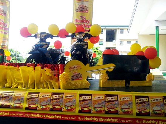 Energen Healthy Breakfast Movement Campaign in Barangay Commonwealth (Prizes)