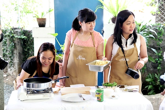 Cooking activity with Joy and Nina