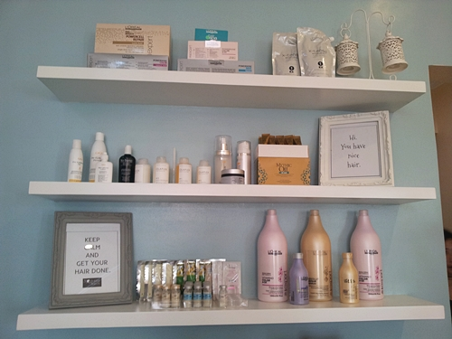 Branded Hair products used in Nouvelle Salon