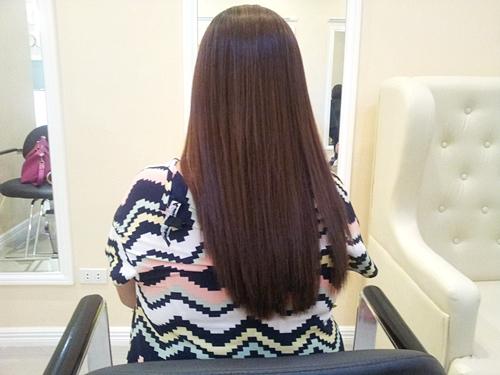 my beautiful hair after Brazilian Blowout