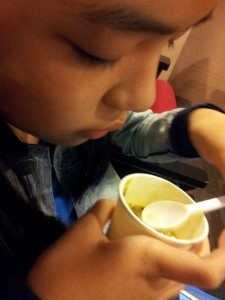 savoring the vegetable soup