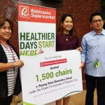 11,000 Chairs For QC Public Schools Will Be Coming From Robinsons Supermarket Green Fund