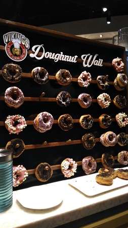 Vikings Donut Wall