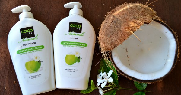 Cocoline Naturals Coconut Milk Licorice Intense Moisturising Body Wash and Body Lotion and Body Bar