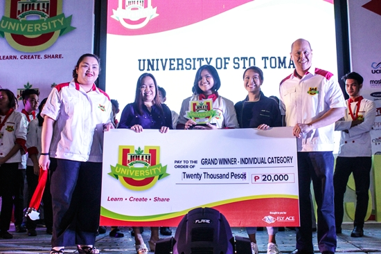 Winner of Jolly University Grand Cooking Challenge Individual Category