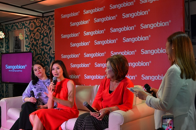 Ming Arroyo-Cunanan, Marketing Director of Merck (makers of Sangobion IRON+) , Sara Geronimo, Dr. Gamilla and Patty Laurel (host) in a short panel about Sangobion and why Sarah endorses Sangobion