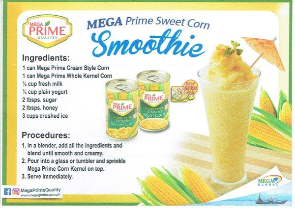 mega prime sweet corn smoothie summer dessert