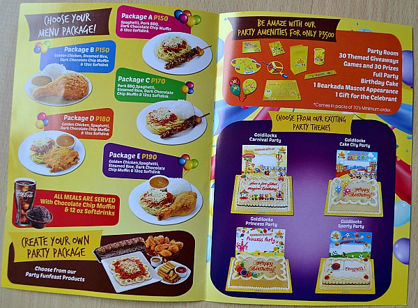 Goldilocks Fun Party Packages