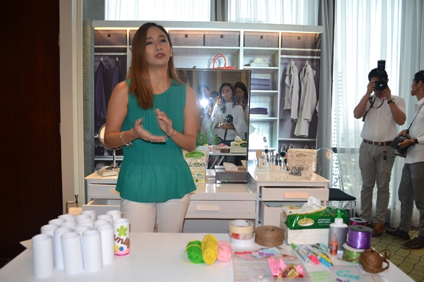 Shari shared some tips in cleaning make up brushes and facial makeups using Sanicare products.