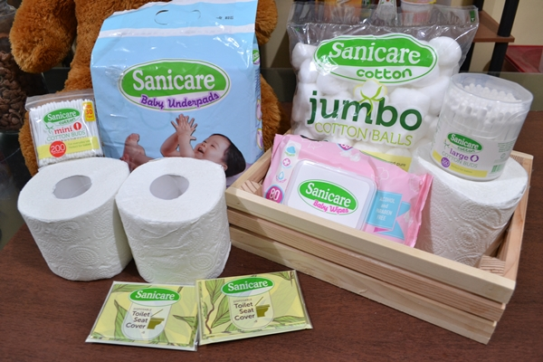 Sanicare baby cleaning care line make it easier for moms to take good care of baby's hygiene.