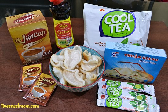 Some of Viet Nam's finest products I was able to taste : VietCup 3 in 1 coffee, Thuan Giang Shrimp Chips, Mekong Hao Hang Super Sauce, Tran Quang Lemon Flavor Cool Tea