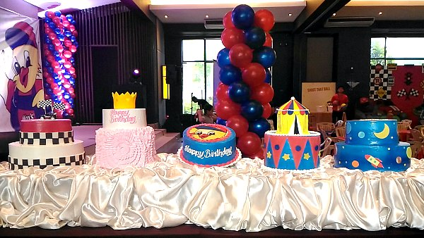Party theme cakes you can choose from for your child's birthday party.