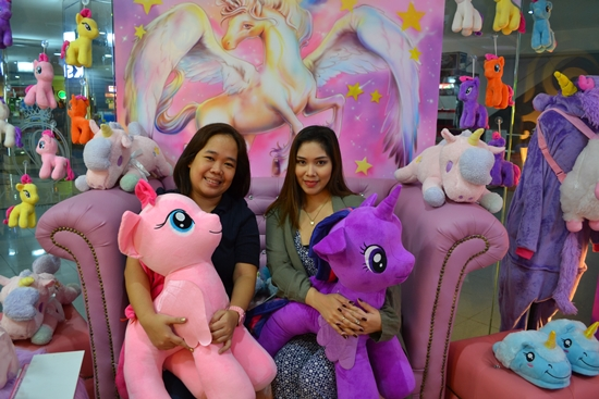 With the owner of unicorn-inspired nail spa Ricel May Veneracion