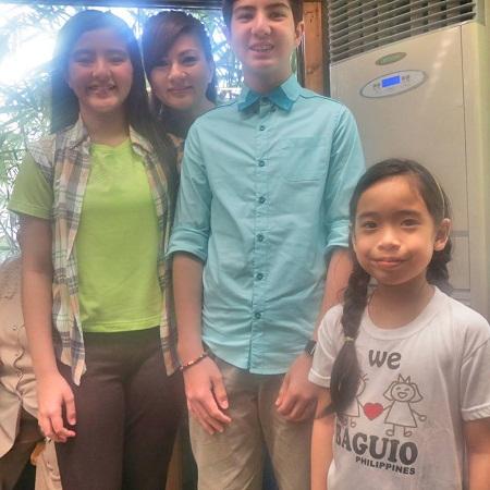 My youngest with her hair braids alongside showbiz Legaspi kids and their mom Carmina Villaroel Legaspi