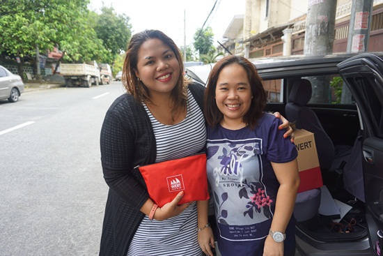 With Kaye Koo of SinagTala Foundation during turnover of vitamins and toys