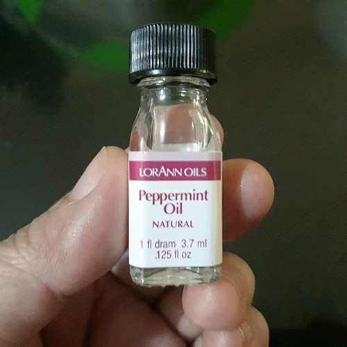 Use a few drops only as this peppermint oil Lorann Oils is very potent.