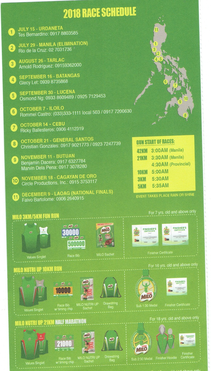 42nd National Milo Marathon Magsama Sama Tumakbo Matuto Sachet For Years Has Played An Active Role In Helping Underprivileged Filipino Youth Reach Their Dreams By Giving Them Brand New Pairs Of Running Shoes