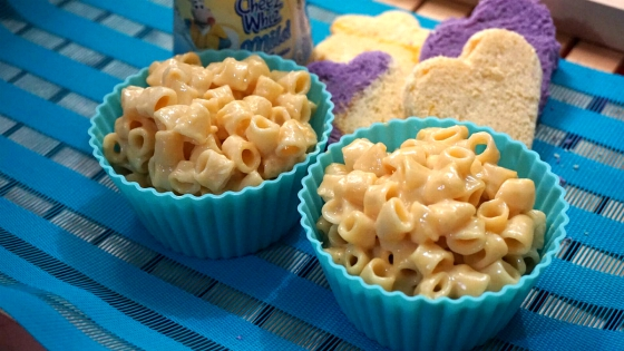 Baked mac n cheese with cheez whiz