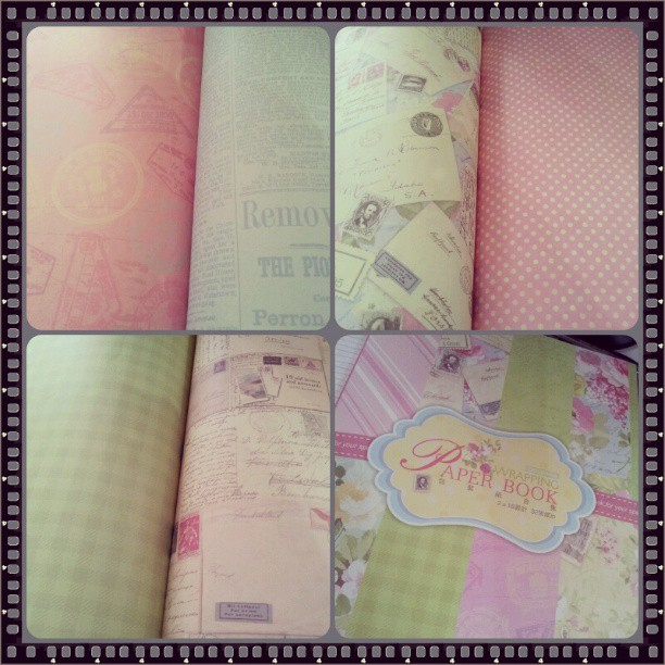 #wrappingpaperbook from #beehappycrafts ♥♥♥
