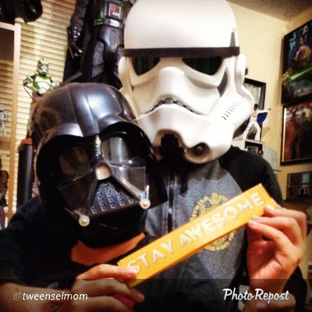 "By @tweenselmom ""My hubby is one awesome Star Wars Storm Trooper :-) had so much fun wearing the helmets ♡ then gobbling up the toblerone after ♡♡♡ #MakeSomeonesDay @toblerone_ph"